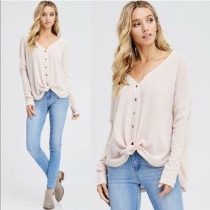 BETTY Front tie Top - NUDE